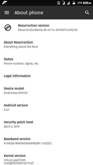 Rom Resurrection MM 5.7.4 Andromax A