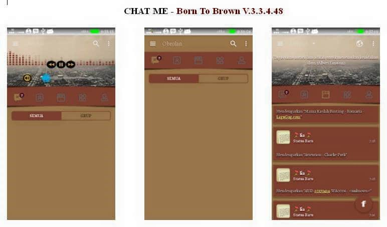BBM Mod CHAT ME - Born To Brown v3.3.4.48 Android Apk