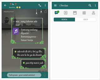 BBM Mod CHAT ME - Simple Green Versi 3.3.6.51 Android APK
