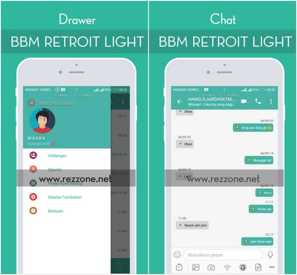 BBM Mod Retroit Light v1.5 Versi 3.3.3.39 Android Apk