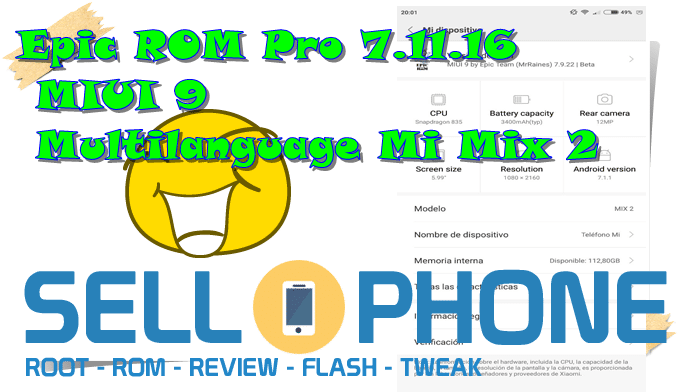 Epic ROM Pro 7.11.16 MIUI 9 Multilanguage Mi Mix 2 2017 - Epic ROM Pro 7.11.16 MIUI 9 Multilanguage Mi Mix 2