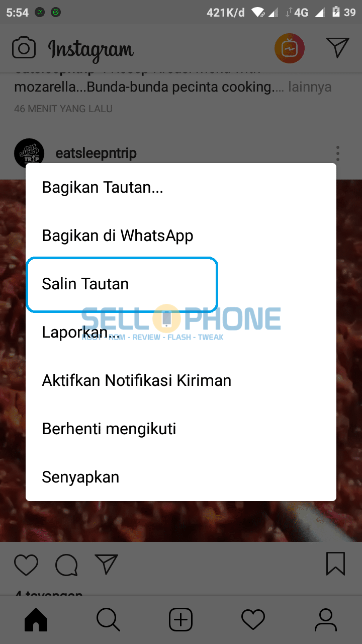 Salin Link di IG Download Video IG - Cara Download Video Instagram dengan Telegram di Android